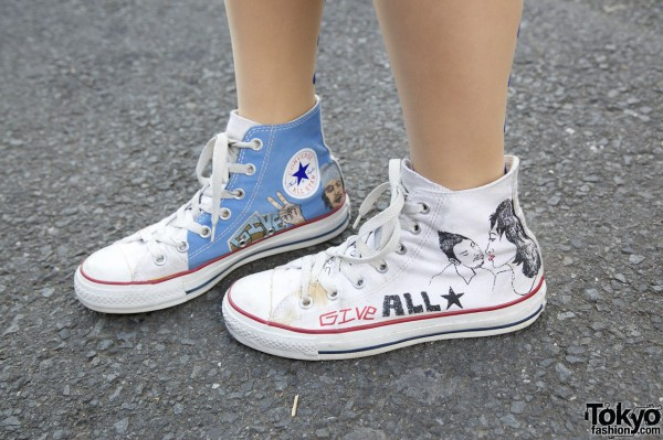 47af0edbf836 Hand-Painted Converse Sneakers – Tokyo Fashion News