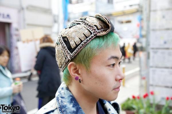 Vintage Ethnic Elephant Hat
