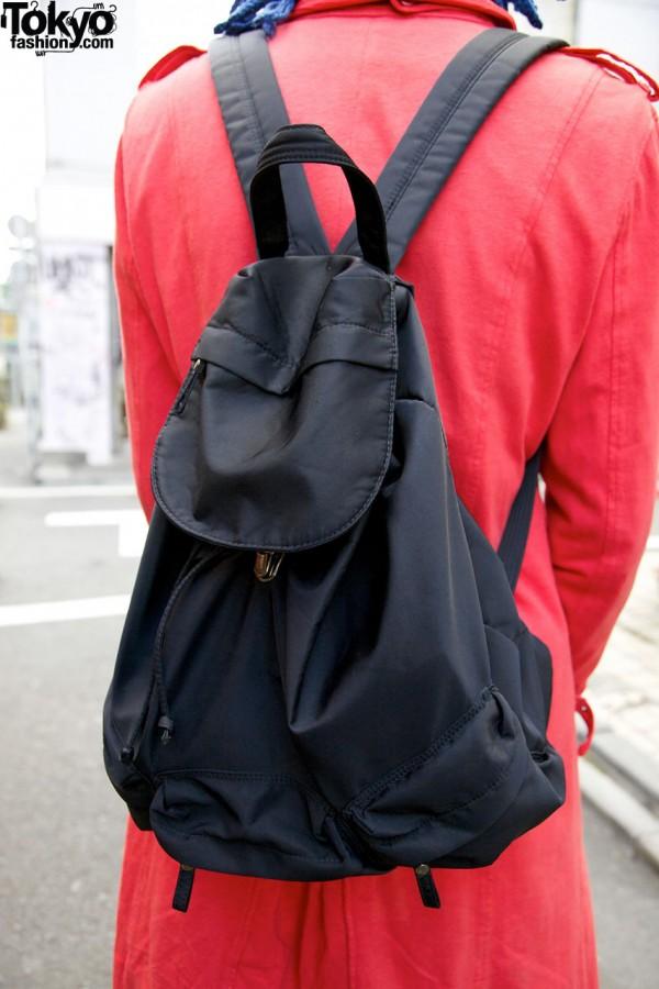 Prada backpack in Harajuku