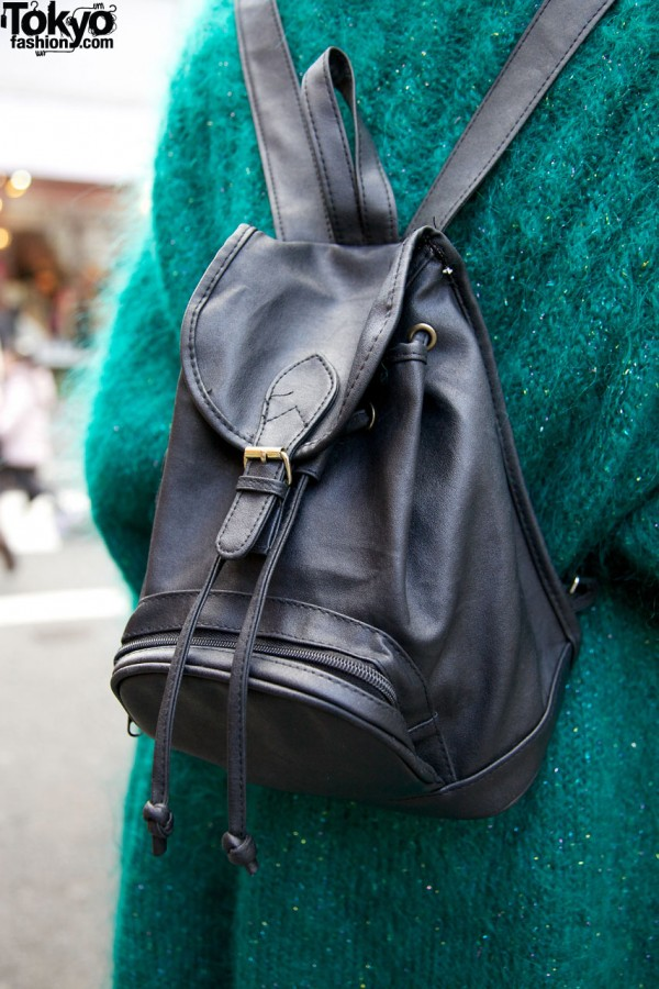 Candy leather backpack in Harajuku