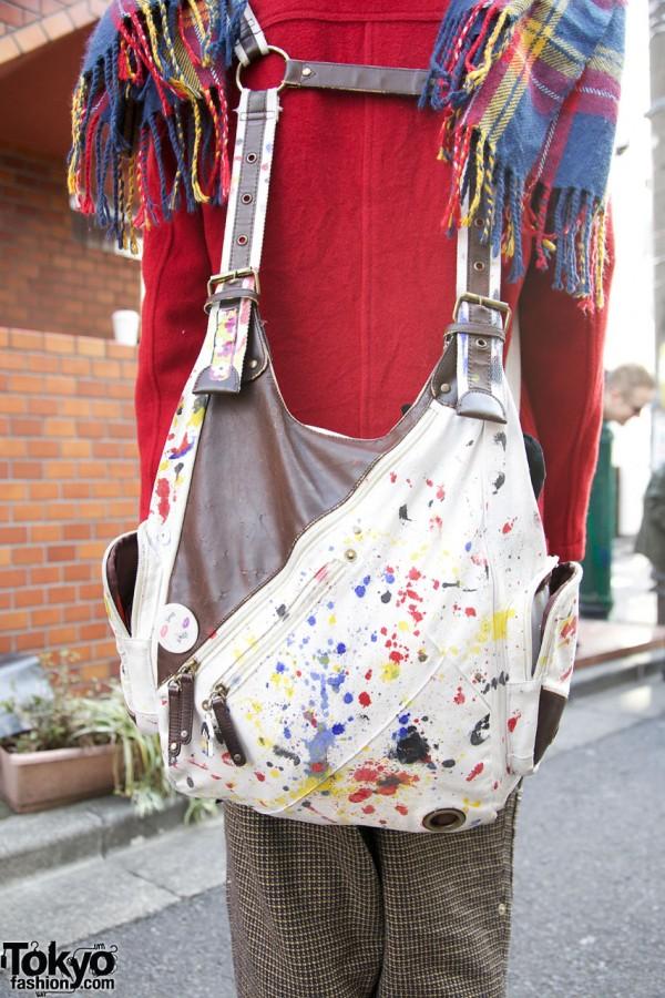 Remake Paint-Splattered Backpack in Harajuku