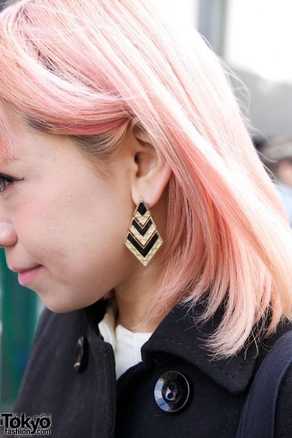 Alluge chevron earrings in Harajuku