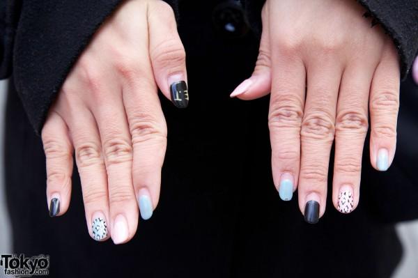 Decorated nails in Harajuku