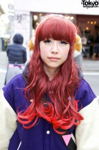 Pink-Tip Japanese Hairstyle