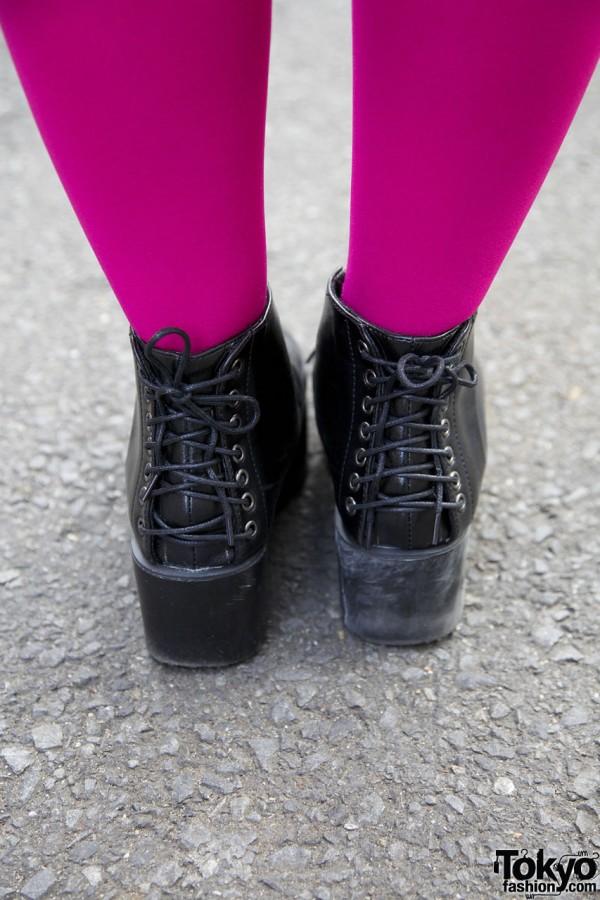 Back-lace Platform Boots