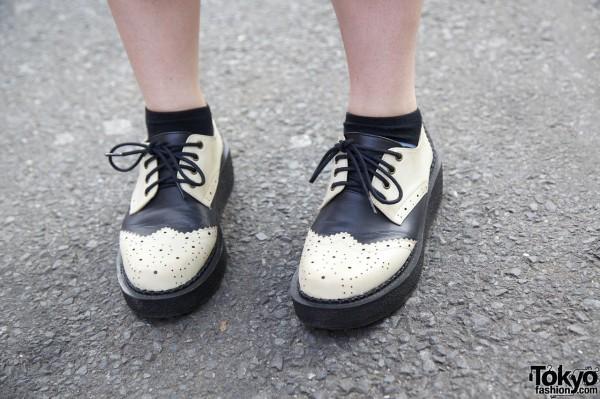 Platform Saddle Shoes in Harajuku