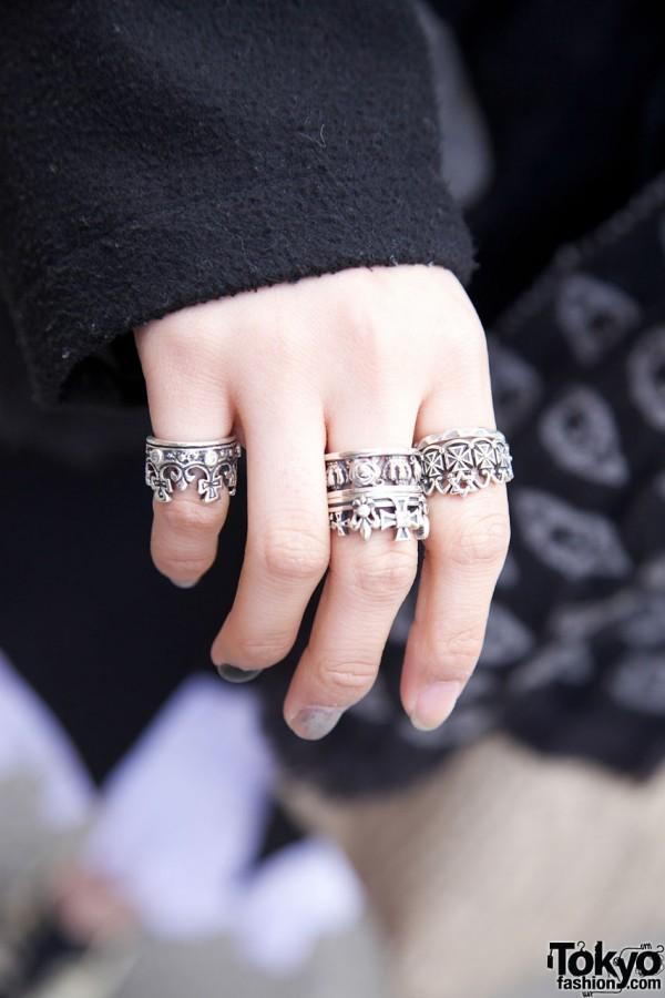 Royal Order Silver Crown Rings