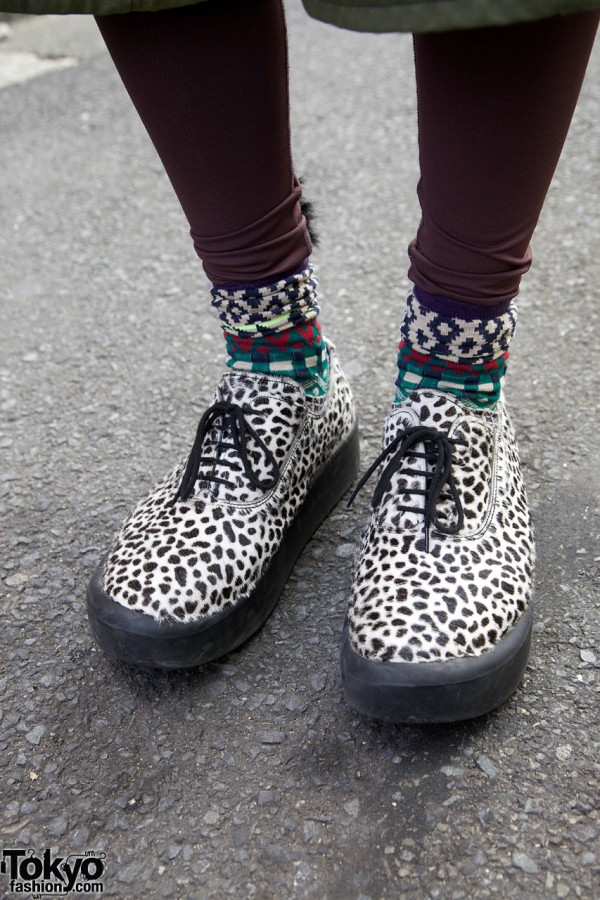 Dotted Tokyo Bopper shoes in Harajuku