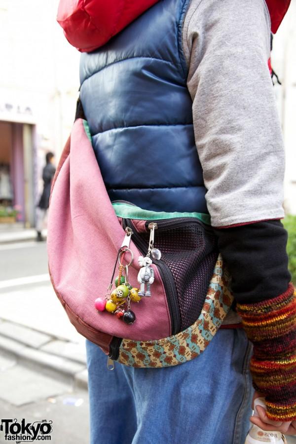 Decoreated cross-body bag in Harajuku