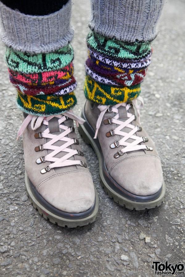 Patterned sockes & Tokyo Bopper shoes