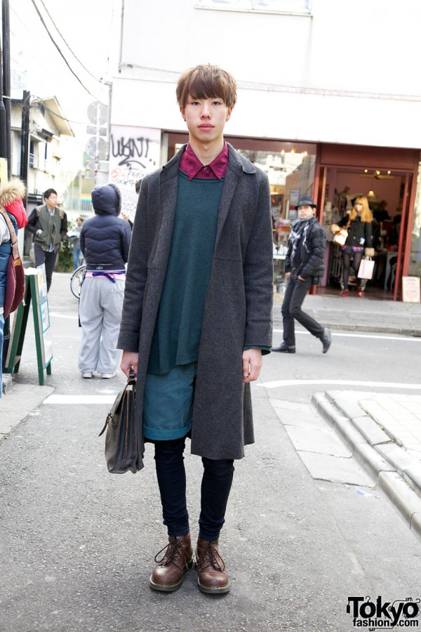 Business As Usual Overcoat, Kinji Shorts & Uniqlo Skinny Pants