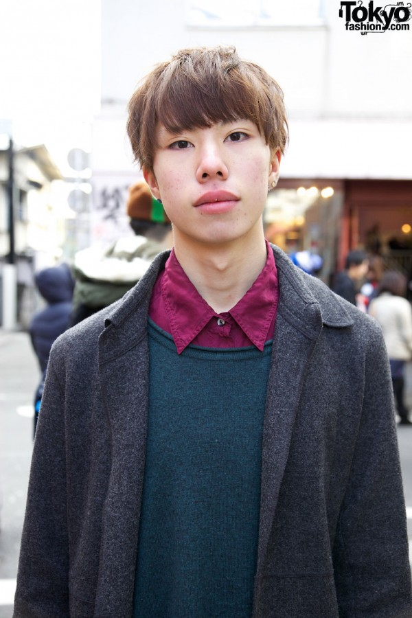 Business As Usual coat & sweater in Harajuku
