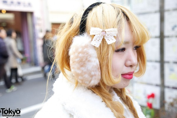 Ear Muffs & Hair Bow in Harajuku