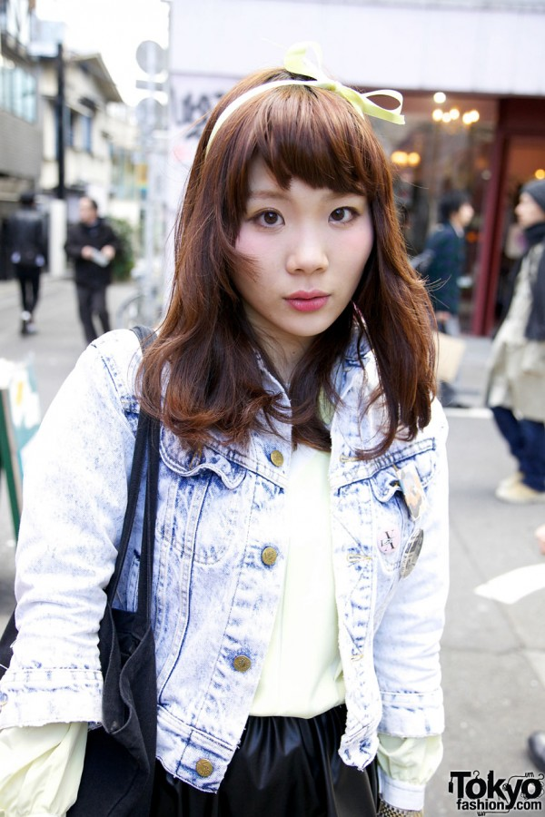 Vintage Acid Wash Jacket in Harajuku