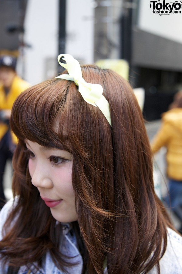 Ribbon Hair Bow in Harajuku