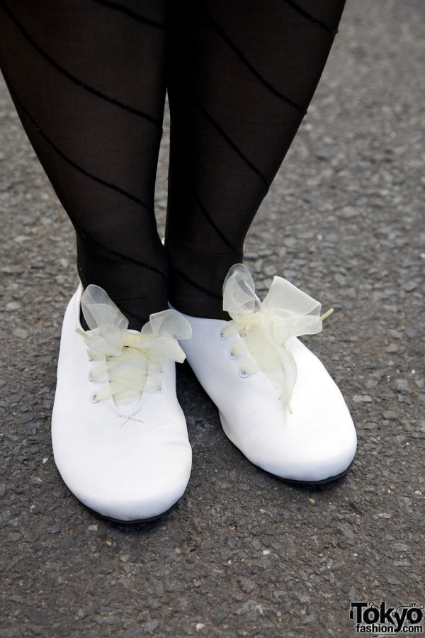 American Apparel Shoes With Ribbon Laces