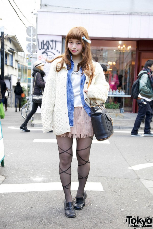 Cable Knit Sweater in Harajuku