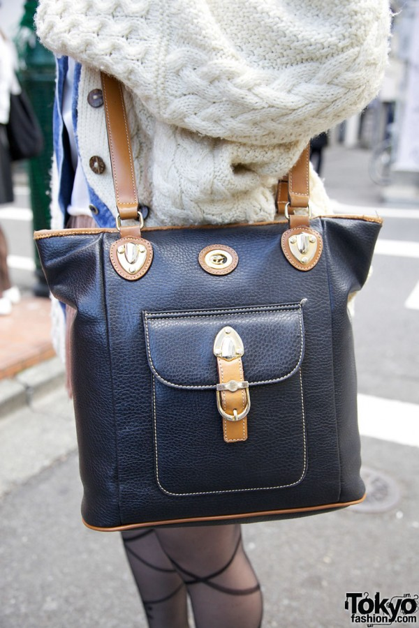 Vintage Leather Purse in Harajuku