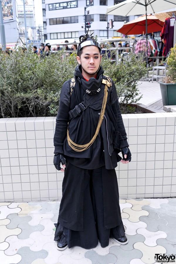 Japanese Cyber Goth/Punk Street Style in Harajuku