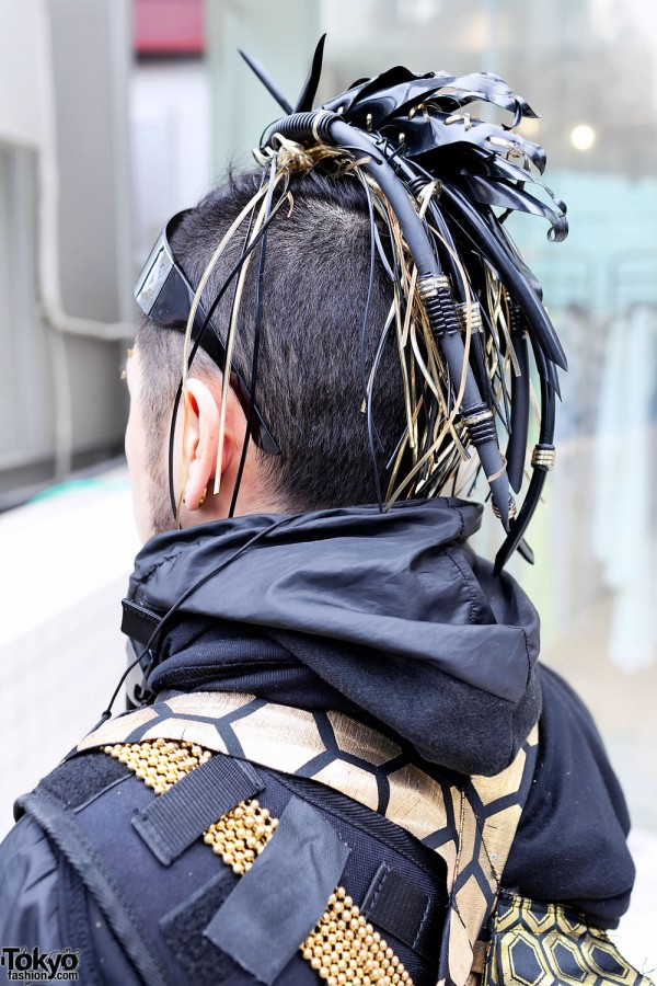 Japanese Cyber Goth Punk Street Style In Harajuku