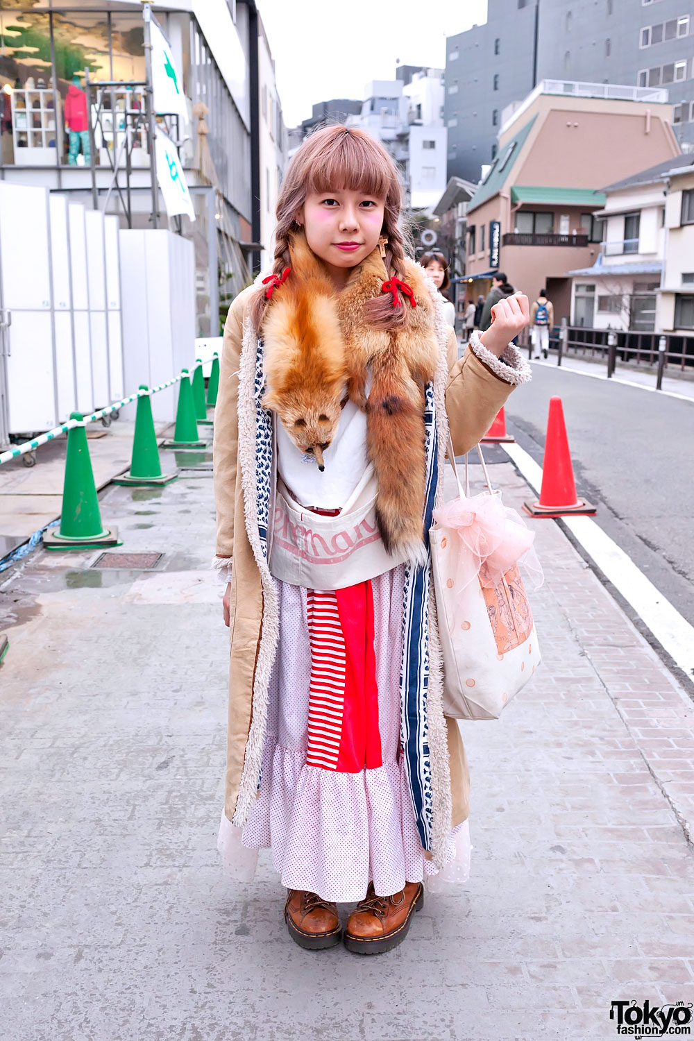 Japanese Girl 39 S Vintage Fashion Cute Braids On Cat Street