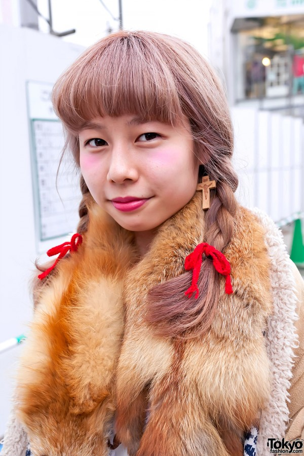Cute Japanese Braids Hairstyle