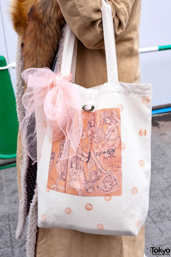 Manga Bag With Bow