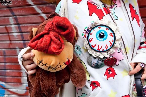 Huge Eyeball Button & Eyeball Ring