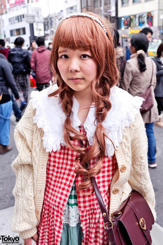 harajuku girls w manga dress cable knit sweater smile. Black Bedroom Furniture Sets. Home Design Ideas