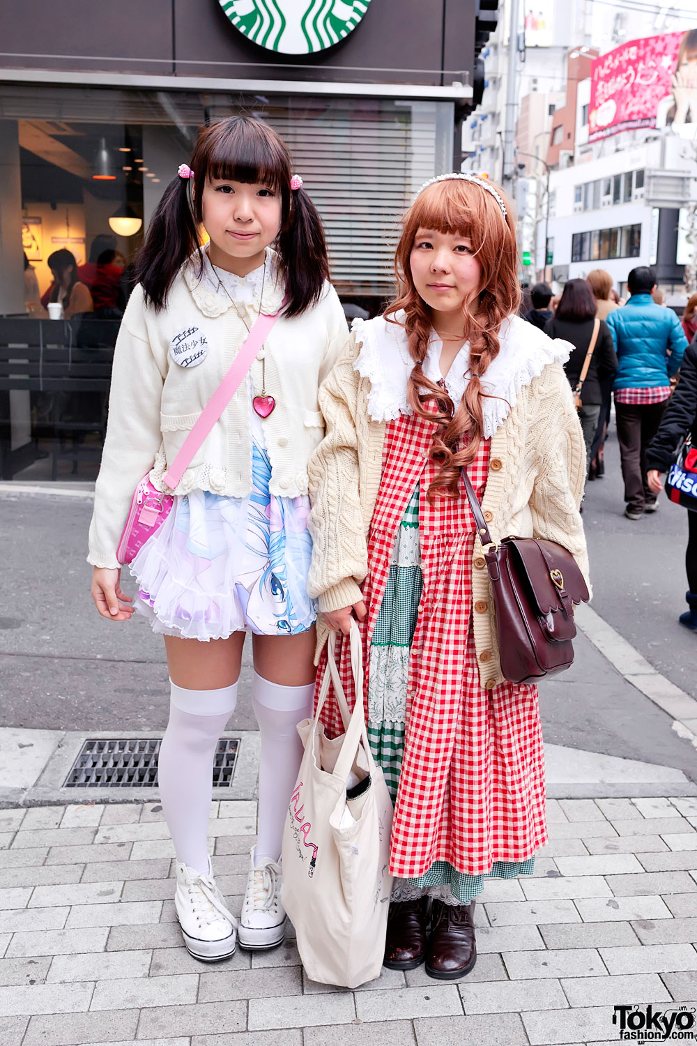 Harajuku Girls W Manga Dress Cable Knit Sweater Amp Smile