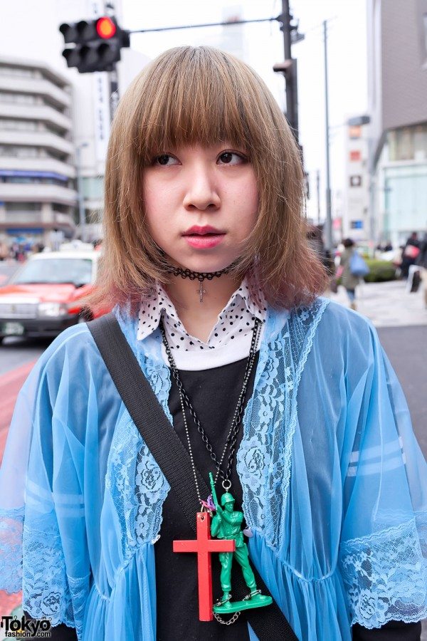 Polka Dot Collar & Choker in Harajuku