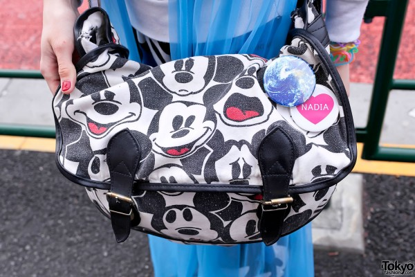 Mickey Mouse Bag & Nadia Harajuku Pin