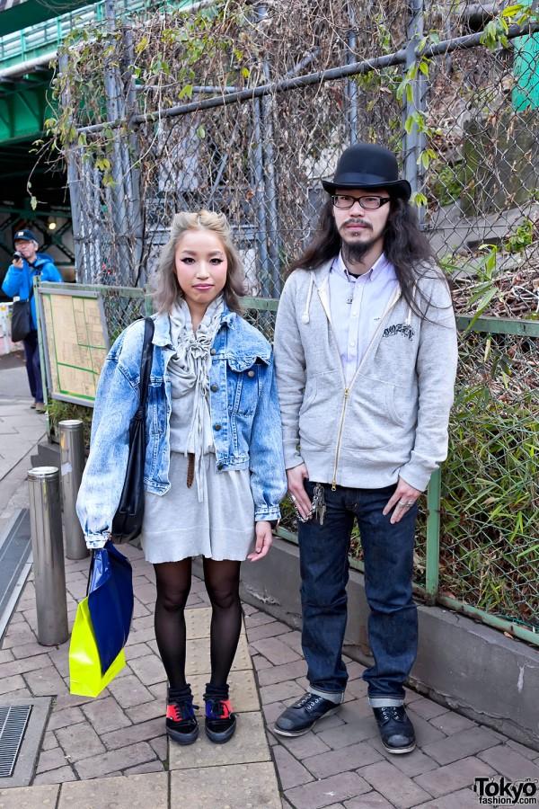 Acid Wash Jacket & Hoodie in Shibuya