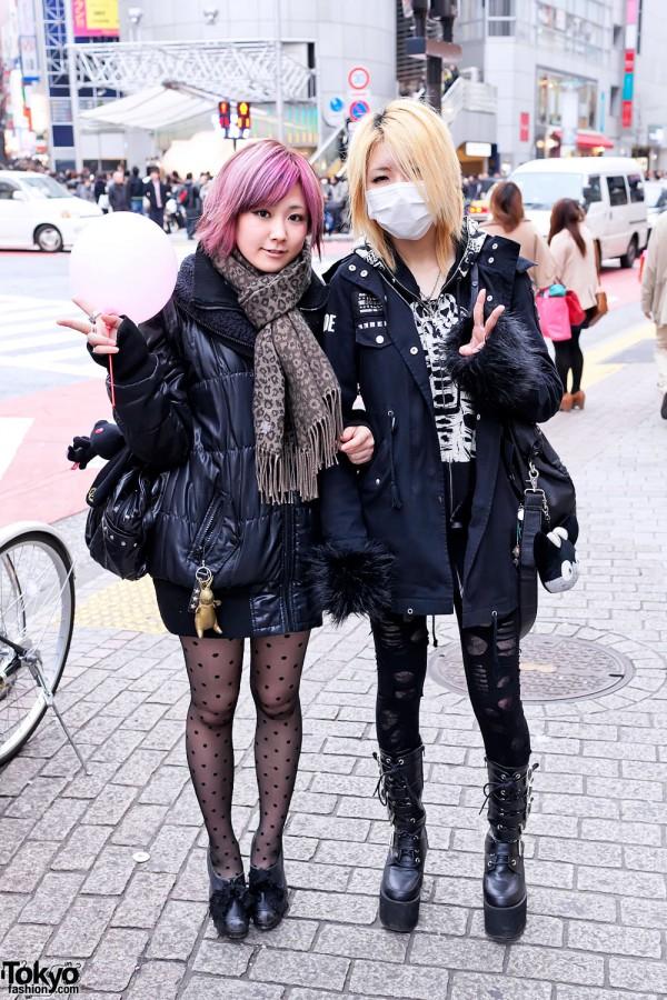 Japanese Girls Street Style in Shibuya