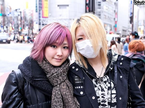 Pink & Blonde Hair Japanese Girls