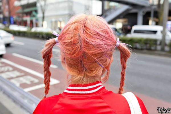 Cute Harajuku Pink Braids Hairstyle