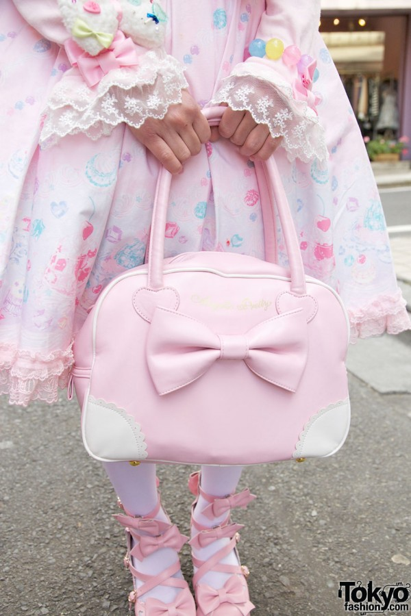 Pink Angelic Pretty purse w/ large bow