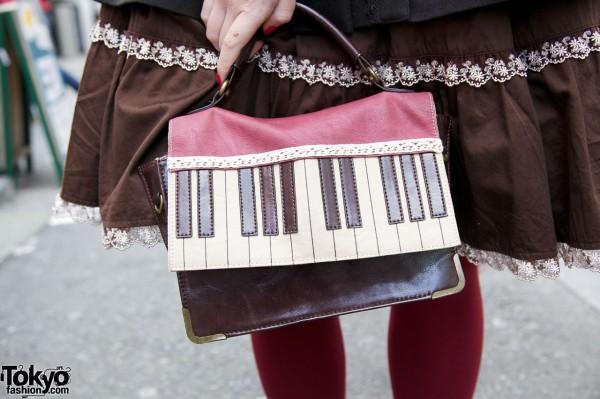 Axes Femme keyboard purse in Harajuku