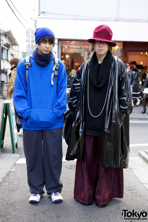 Business Hoodie & Pinstripe Pants vs. Slick Dog Coat & Halo Cowl Top