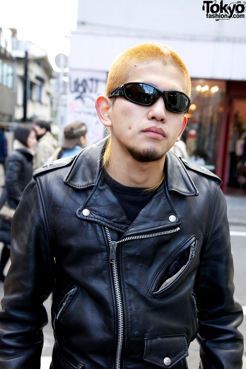 Schott Leather Jacket Amp Wraparound Shades Tokyo Fashion News