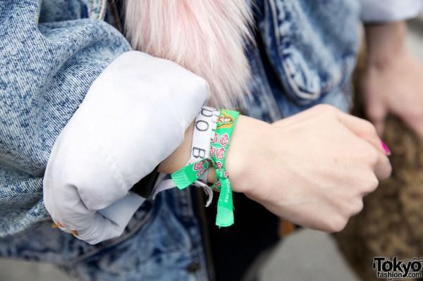 Momo's Wristbands in Harajuku