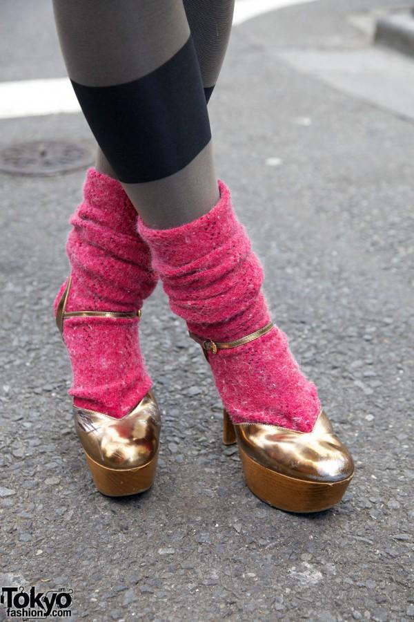 Vintage Gucci Platform Heels & Leg Warmers