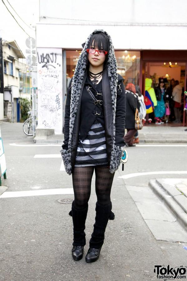 Yasu's Gothic Stigmata Outfit in Harajuku