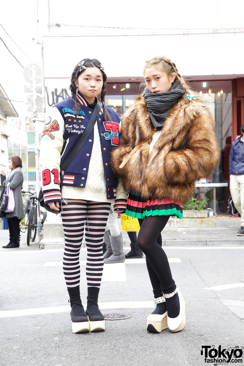 Girls with Braids & Rocking Horse Shoes in Harajuku