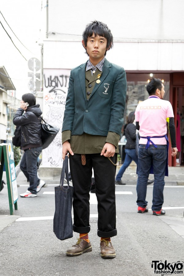 Eclasion Jacket w/ Military Medal & Wrangler Jeans