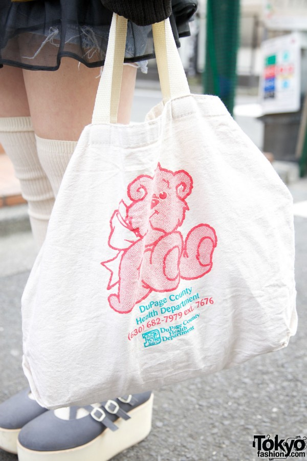 Used tote bag from Chicago resale shop