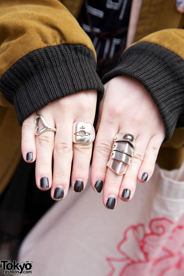 Silver Tiffany & Vivienne Westwood rings
