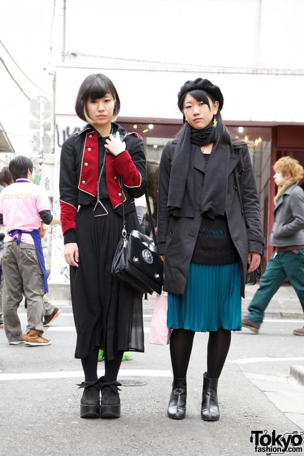 Harajuku Girls' Milk Military Jacket, Teknopolice Phone Purse & Fur Beret