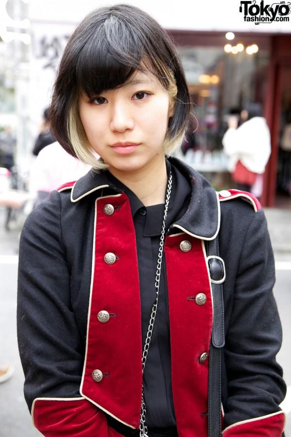Milk military jacket in Harajuku
