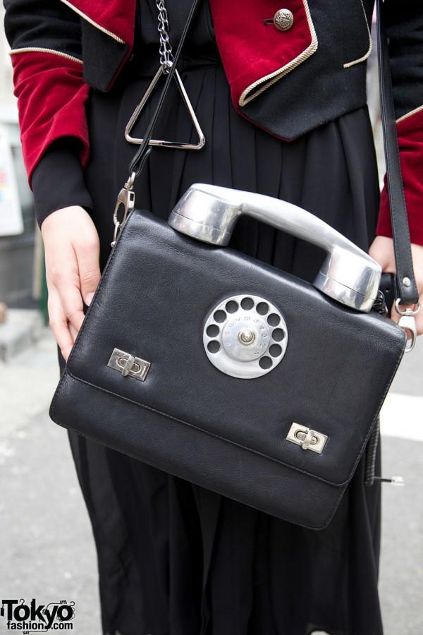 Teknopolice phone purse in Harajuku